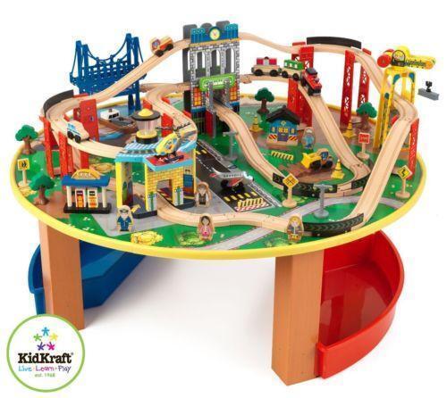 Wooden Train Track Table | eBay