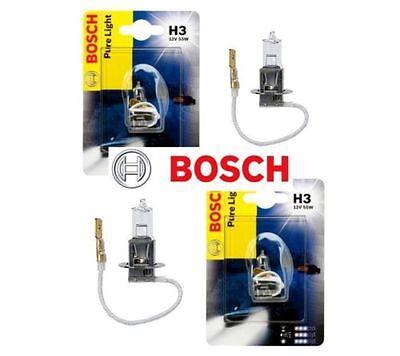 2X BOSCH PURE LIGHT H3 12V 55W HALOGEN AUTO LAMPE ORIGINAL 1987302031 WOW