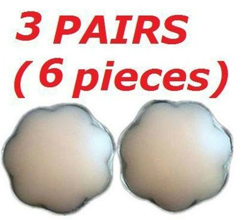 Womens Ladies Silicone Petal Nipple Stick Reusable Cover Patch Pad 1 2 3 pairs