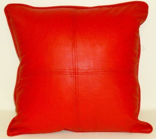 Leather Decorative Pillows for a Master Bedroom