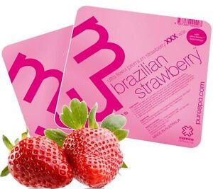 1kg Mancine Brazilian Strawberry Ultra Flex Hot Hard Wax waxing sensitive areas.
