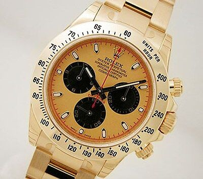 Rolex Cosmograph Daytona 116508 Yellow Gold Champagne Paul Newman Dial 40mm