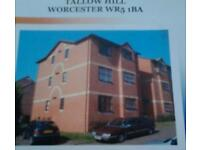 ONE BEDROOM FLAT IN WORCESTER CITY WITH LOVELY VIEWS PARKING NEW KITCHEN NEWLY PAINTED AND CARPETS.