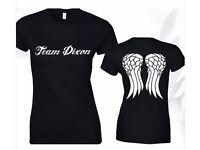 Team Dixon Ladies T Shirt The Walking Dead Zombie Daryl Dixon