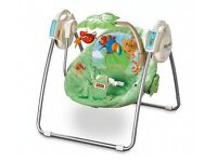 Rainforest Fisher-Price infant swing with songs and different speeds