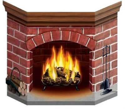 Brick Cardboard Stand-Up Fireplace