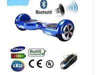 Hoverboard Self Balance Samsung battery BLUE BLUETOOTH + SPEAKER SEGWAY New