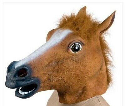 Purge Prank Halloween (Creepy Horse Man Purge Halloween Mask Rubber Prank Costume Adult One)