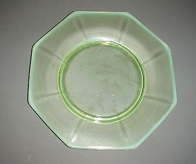 Green Depression Glass Salad Plate Frosted Rim