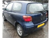 Toyota Yaris 54 Reg Blue 9 Months MOT New Clutch new Battery 3 years warranty see description