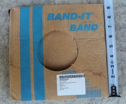"""BAND-IT 201 Stainless Steel Strapping, 1/2"""" x 100"""