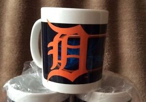 6 MLB OFFICIAL DETROIT TIGERS COFFEE MUGS