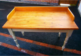 Antique pine Butlers table
