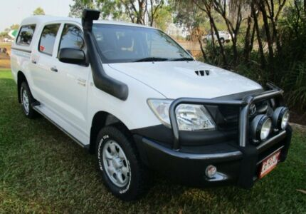 2010 Toyota Hilux KUN26R MY10 SR White 4 Speed Automatic Utility Berrimah Darwin City Preview