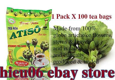 100 x 2g ARTICHOKE Tea Bags for Liver Diabetics BEST PRICE - Atiso - Danh