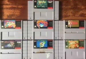 CLASSIC Super Nintendo (SNES) games - Zelda, Metroid, etc