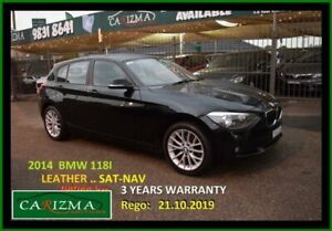 2014 BMW 118i F20 MY14 Black 8 Speed Automatic Hatchback Seven Hills Blacktown Area Preview