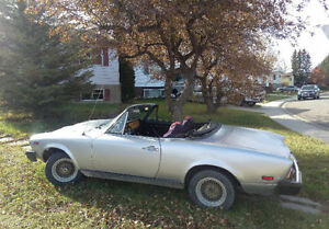 Running 1975 Fiat Spider Convertible