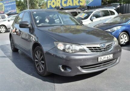 2007 Subaru Impreza G3 MY08 R Grey Sports Automatic Hatchback Campbelltown Campbelltown Area Preview