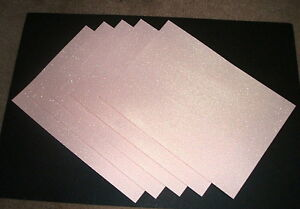 5 x A4 Sheets Soft Touch Glitter Card - Choices of Colours