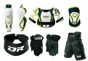 New hockey equipment set youth junior pants shoulder pads glove