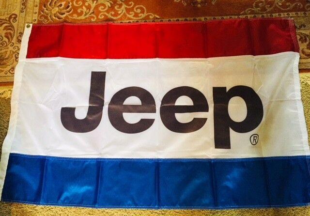 3FT X 5FT  USA MADE JEEP FLAG SEWN STRIPES NYLON NICE!!