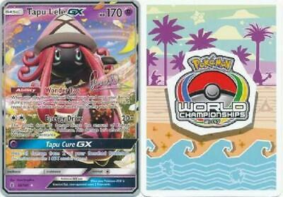 Pokemon Card Tapu Lele GX - 60/145 Ultra Rare World Championship NM