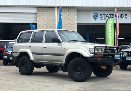 1997 Toyota Landcruiser FZJ80R GXL Silver 4 Speed Automatic Wagon East Brisbane Brisbane South East Preview