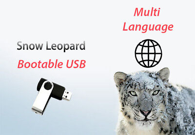✅Mac OS X Snow Leopard 10.6 - Bootable USB (Recovery,Upgrade,Fresh