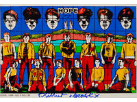 GILBERT & GEORGE - 'HOPE' - HAND SIGNED RARE PRINT - c2011 - FRAMED (picture, print)