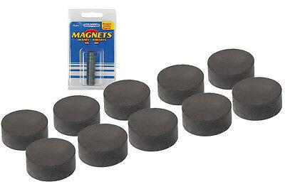 10 runde Magnete, Magnet rund 12 x 5 mm, starker runder Keramik-Magnet
