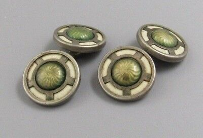 Excellent Mens 4 SIDED ART DECO FLAPPER CUFFLINKS Costume Vintage Jewelry I 70 - Male Flapper Costume