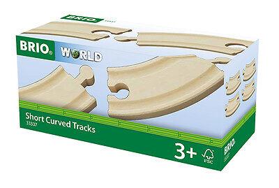 4 kurze gebogene Gleise Brio 33337 Kurven Holzeisenbahn neu