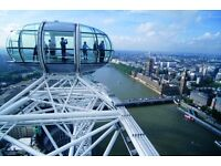 SAVE UP TO 30% * LONDON EYE FLEXI TICKETS - VISIT ANY DAY - ANY TIME * ADULT-CHILD-SENIOR AVAILABLE
