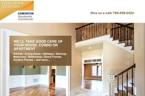 Full residential and commercial interior painting services.