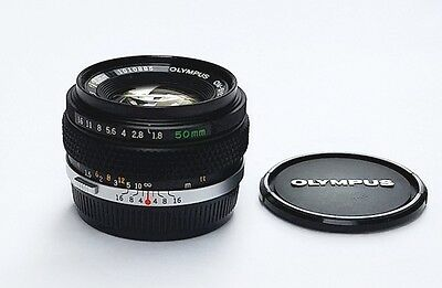 Beautiful Olympus F.Zuiko Auto-S 50mm f1.8 Lens,  EX++ Condition with Warranty