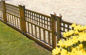 Greenhurst pack of 4 bronze effect plastic fence panels. 3 x packs!