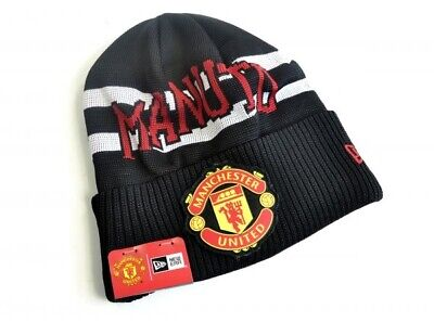 New Era Manchester United Football Club Official Adult Turn Up Text Beanie Hat