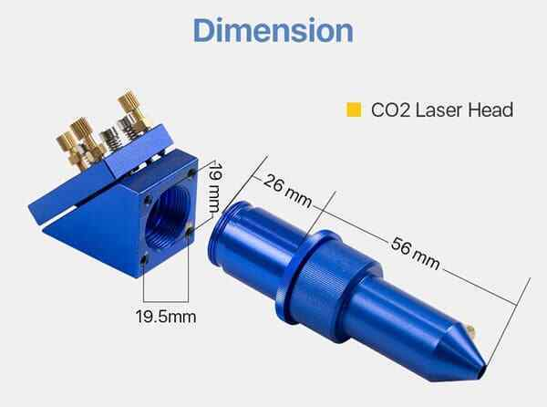 Cloudray K Series laser head (BLUE) 12-50.8/18-50.8/ 20-50.8