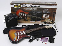 Guitar PACK w/ amp, tuner, dvd, stand, bag, cable, strap, picks