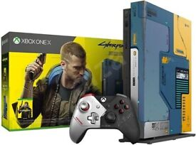 RARE Cyberpunk 2077 X Box one X limited edition