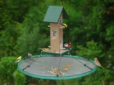 Songbird Essentials Seed Catcher Platform Bird Feeder Seed Hoop 16 in SEIA 30034 Seed Catcher Platform