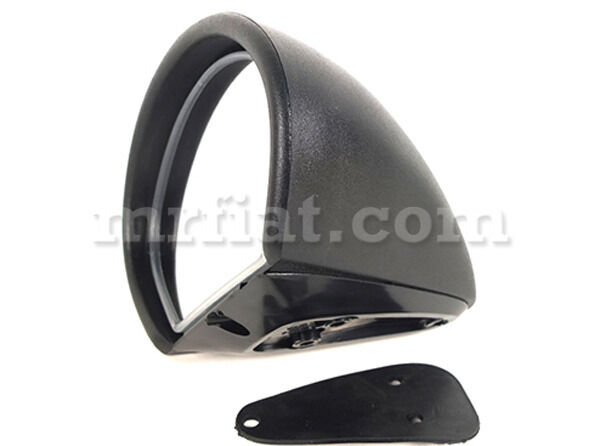 Lancia Fulvia Black Vitaloni Side View Mirror New