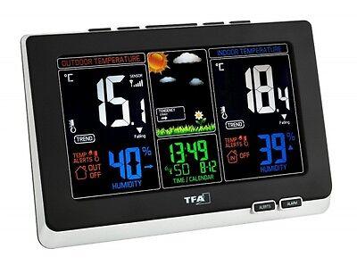 Funk Wetterstation Thermometer Wetterprognose Hygrometer TFA SPRING Farbdisplay