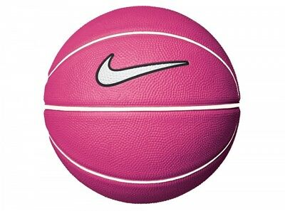 Nike Mini Pink White Basketball White Tick Rubber NBA Training Small Size 3 e4b5a95749