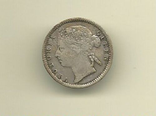 Mauritius 1899 TWENTY CENTS QV SILVER COIN EXCELLENT CONDITION FREE USA SHIPPING
