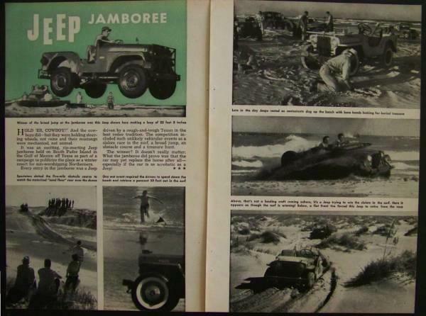 1957 Jeep Jamboree South Padre Island vintage Pictorial