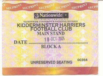 Ticket - Kidderminster Harriers v Darlington LDV 2005
