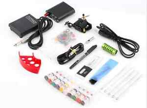 Complete Tattoo Kit Machine Gun 10 Color Ink Needles