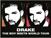 Drake 2 x seated tickets January 26th 2017